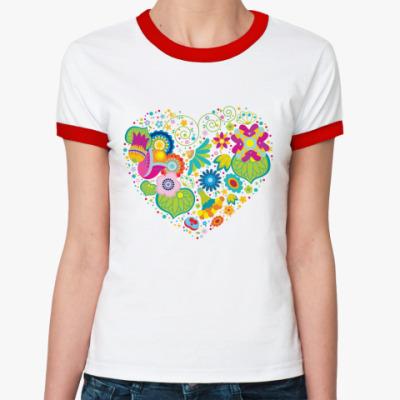 Женская футболка Ringer-T HEART