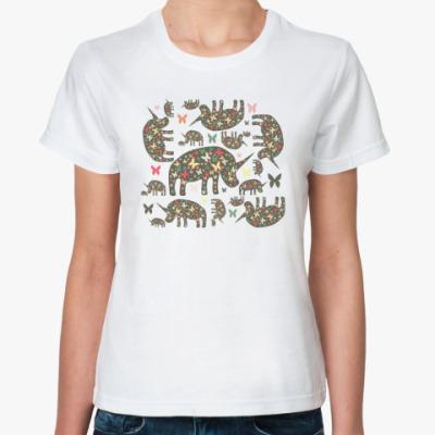 Классическая футболка Очень добрые носороги