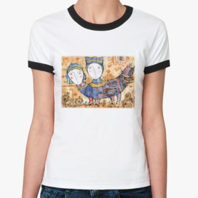 Женская футболка Ringer-T Птица Мифическая