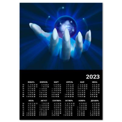 Календарь  A2 Ледяной шар