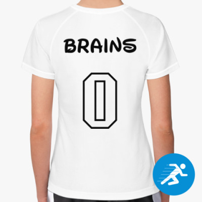 Женская спортивная футболка Zero Brains
