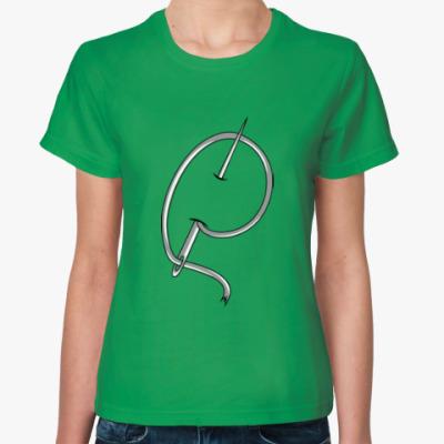 Женская футболка Игла и нить