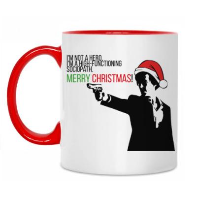 Кружка Merry christmas from Sherlock