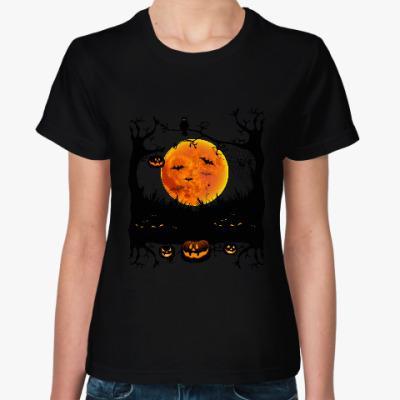 Женская футболка Хеллоуин. Зловещая ночь