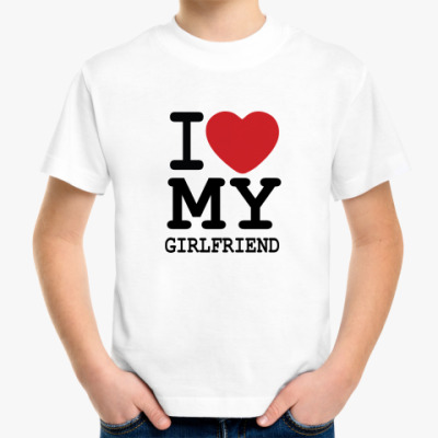 Детская футболка My Girlfriend