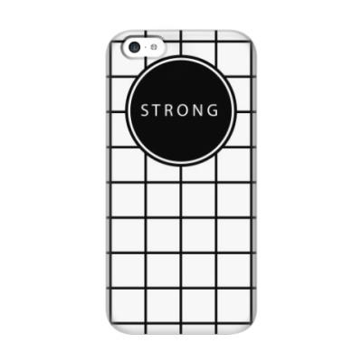 Чехол для iPhone 5c Минималистичный принт STRONG