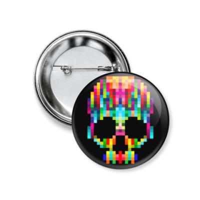 Значок 37мм Pixel Skull