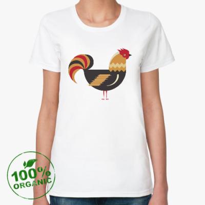 Женская футболка из органик-хлопка Петух