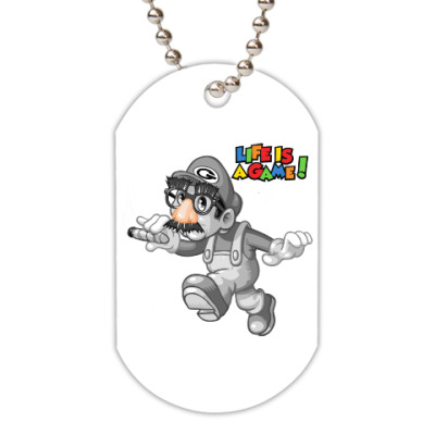 Жетон dog-tag Марио - жизнь игра