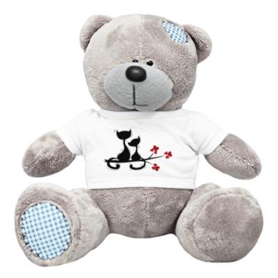 Плюшевый мишка Тедди Любовь и кошки