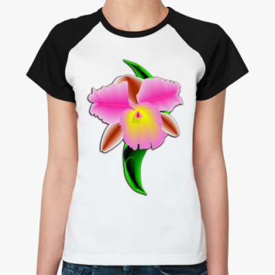 Женская футболка реглан Орхидея