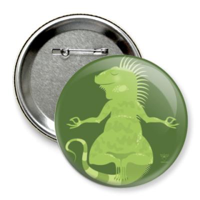 Значок 75мм Animal Zen: I is for Iguana