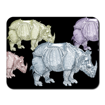 Коврик для мыши Носороги