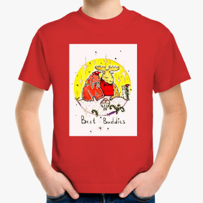 Детская футболка Лось и морж