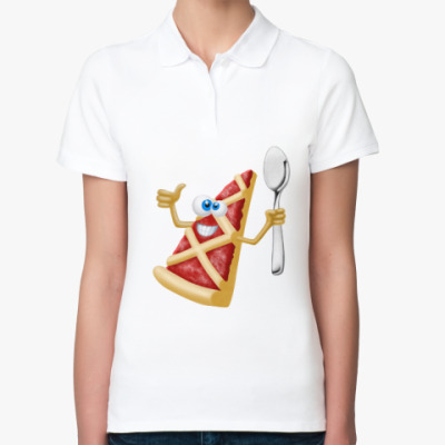 Женская рубашка поло Пиццерия