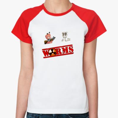 Женская футболка реглан WORMS