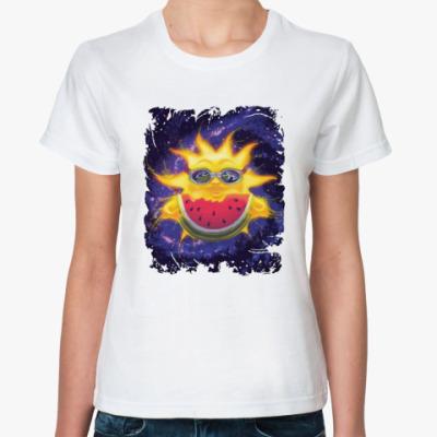 Классическая футболка Солнечный арбуз