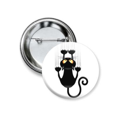 Значок 37мм Кошка с характером