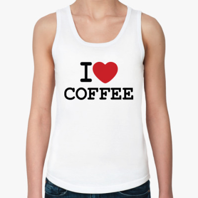 Женская майка I Love Coffee
