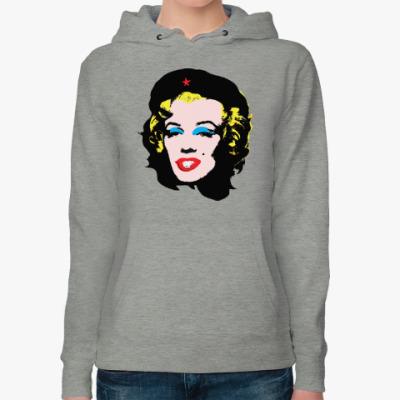 Женская толстовка худи Che Guevara- Marilyn Monroe