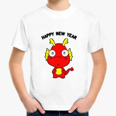 Детская футболка Новогодний дракончик