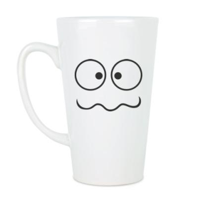Чашка Латте Глупая рожица