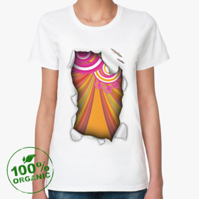 Женская футболка из органик-хлопка 'Узор'