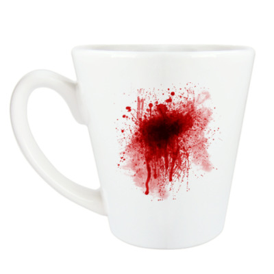 Чашка Латте Брызги Крови