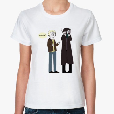 Классическая футболка Шерлок(Sherlock)