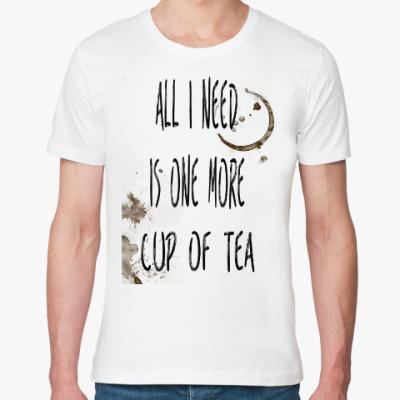 Футболка из органик-хлопка Чашка чая