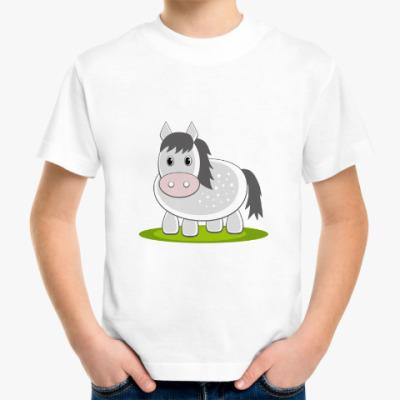 Детская футболка Лошадь в яблоках