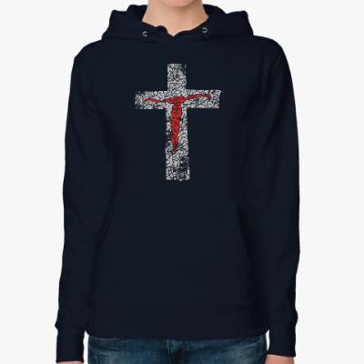 Женская толстовка худи Христианство. Gospel. Faith.