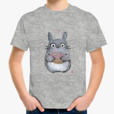 Детская футболка Тоторо и сакура