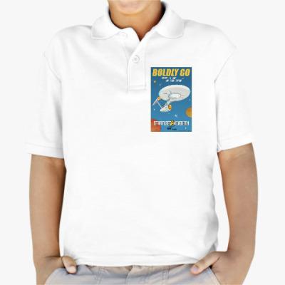 Детская рубашка поло Star Trek Boldly Go