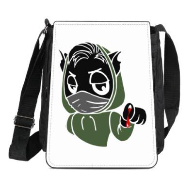 Сумка-планшет Черный кот ассасин