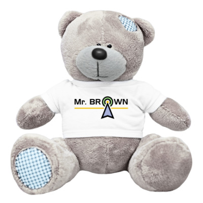 Плюшевый мишка Тедди Mr. BROWN (эфирный зверь)