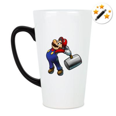Кружка-хамелеон Марио бъет тебя по пальцам