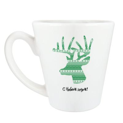 Чашка Латте Олень: С Новым годом!