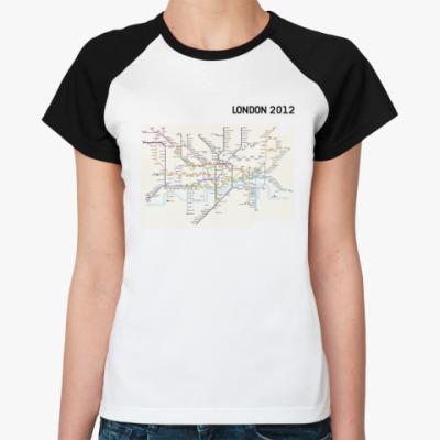 Женская футболка реглан  'LONDON 2012'