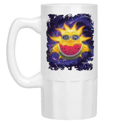 Пивная кружка Солнечный арбуз
