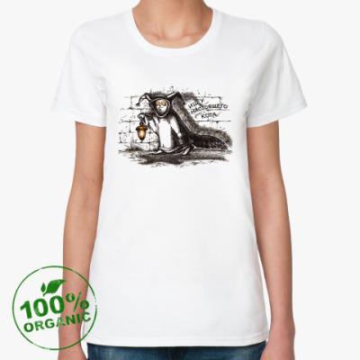 Женская футболка из органик-хлопка Кот-философ