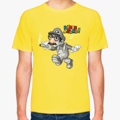 Футболка Марио - жизнь игра