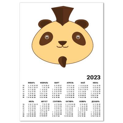 Календарь Смешная панда панк