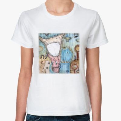 Классическая футболка Синий  кот