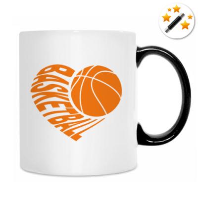Кружка-хамелеон Баскетбол в сердце