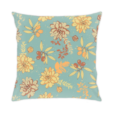 Подушка Цветы и оливы