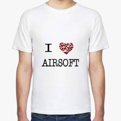 Футболка  I love Airsoft