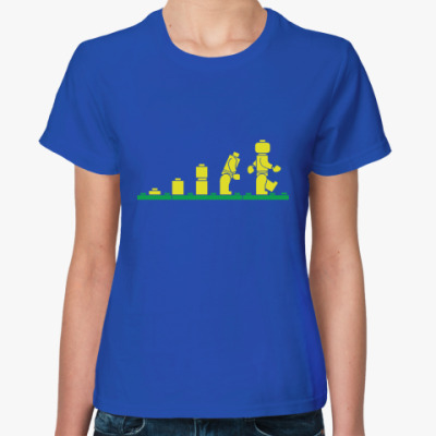 Женская футболка Женская футболка Fruit of the Loom, синяя