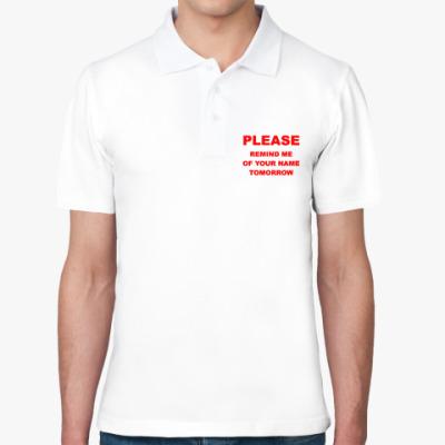 Рубашка поло Please remind me