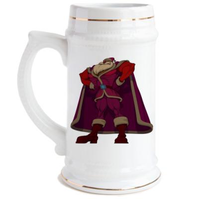 Пивная кружка  Могучий Санта